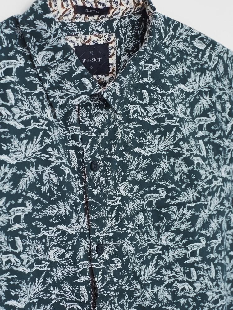 Woodland Etching Print Shirt