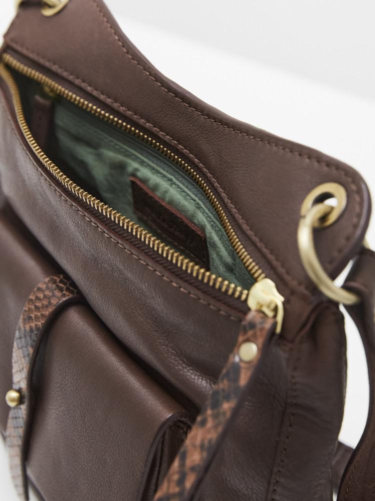 Aspen Leather Mix Crossbody