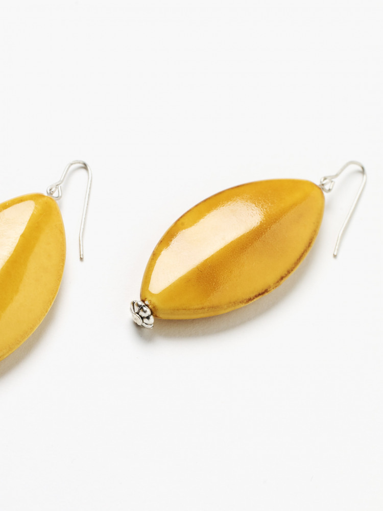 Tear Drop Ceramic Earrings
