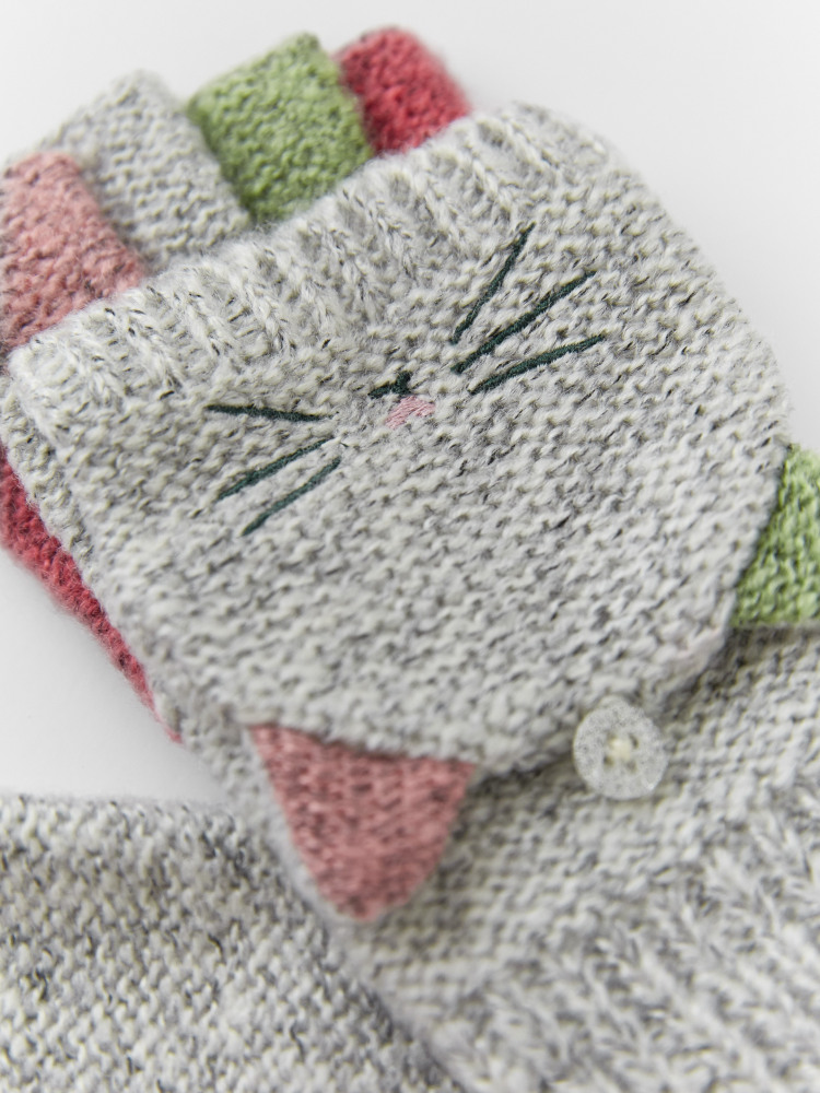 Kids Cat Flip Mitts