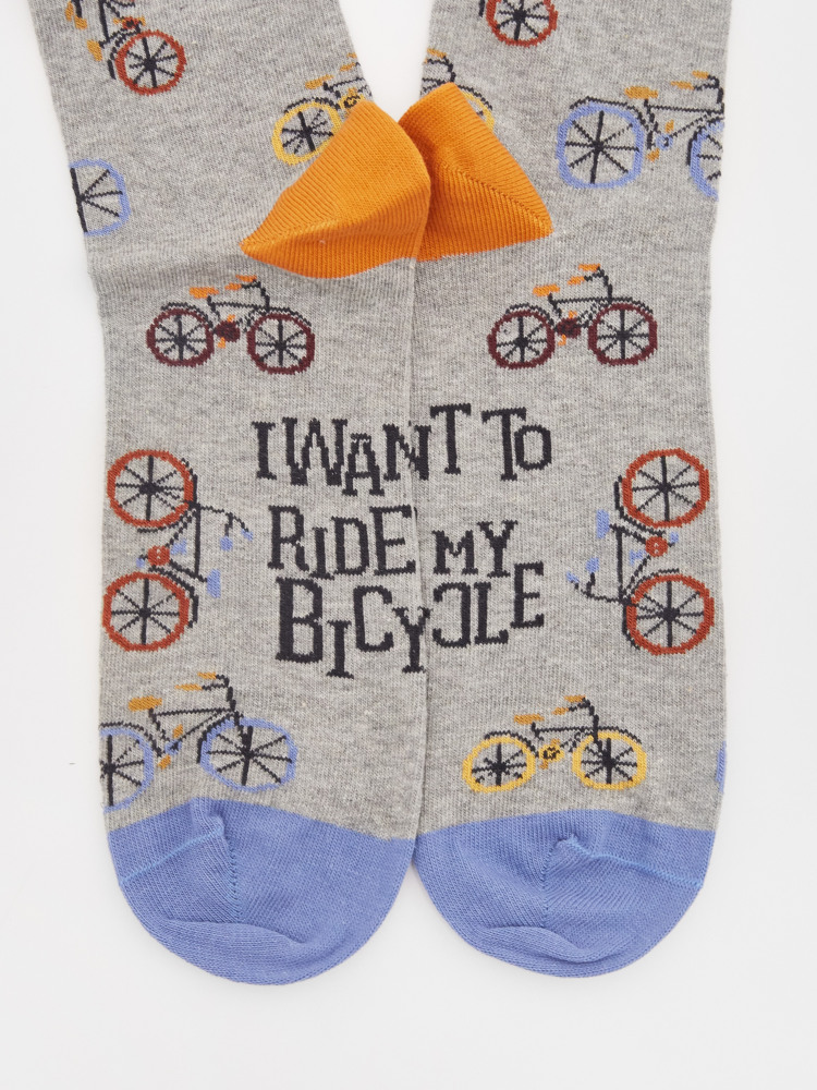 I Want To Ride My Bicycle Sock