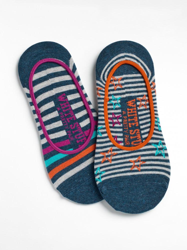 Starry Stripe 2 Pack Footsie