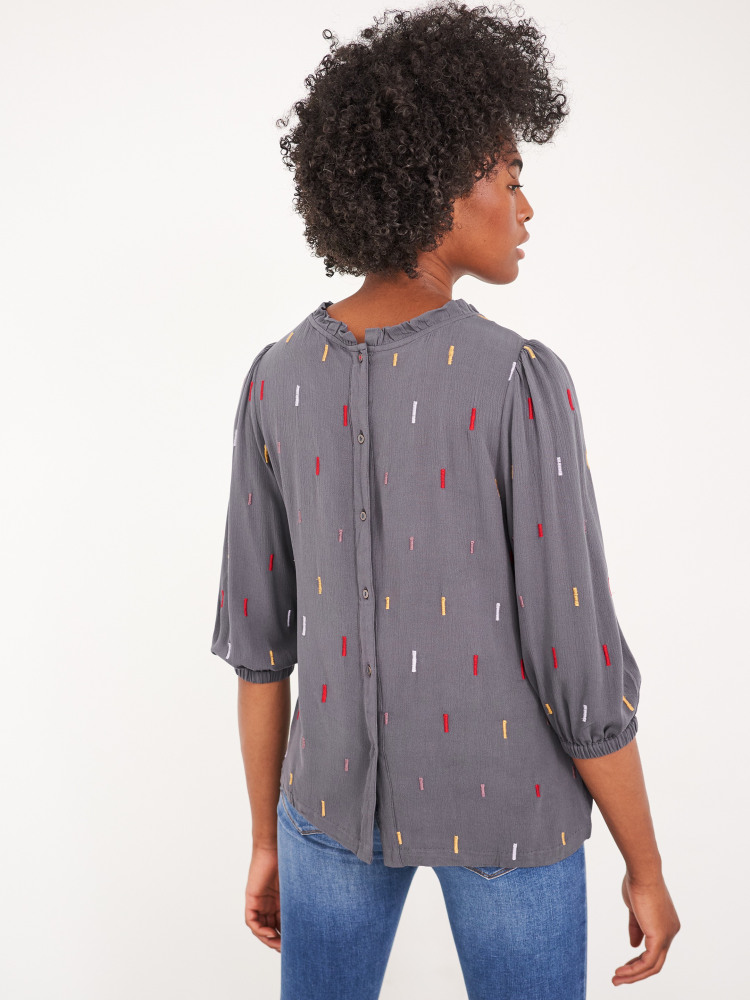 Dash Embroidered Top
