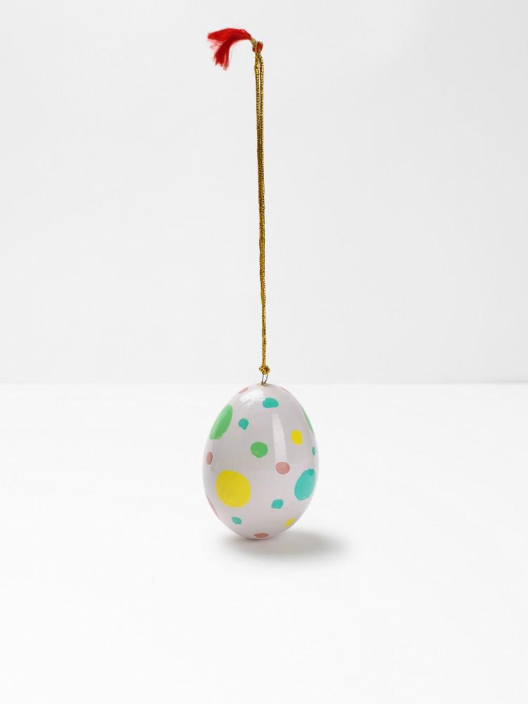 Paper Mache Dotty Egg