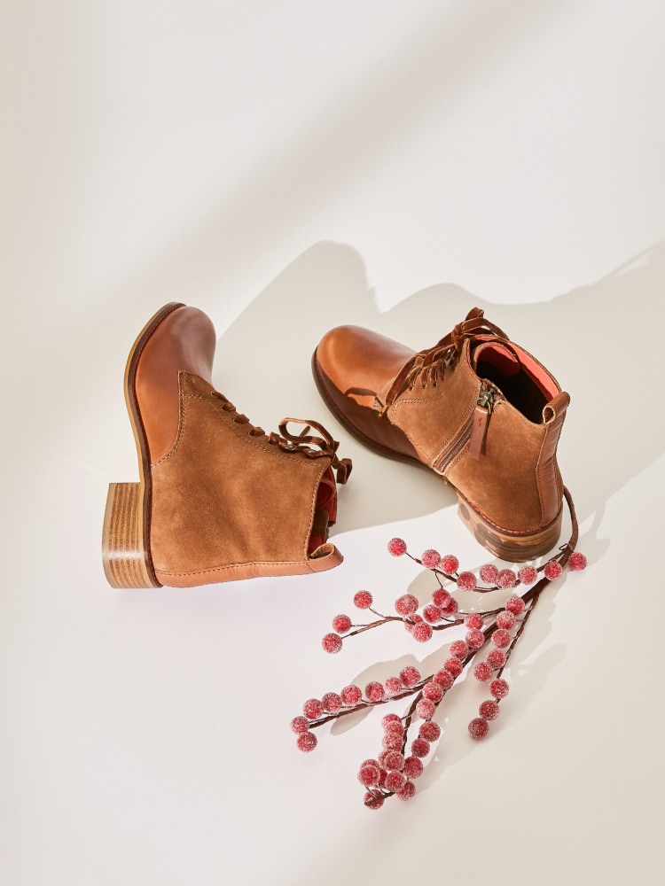 Mabel Leather Lace Up Boots