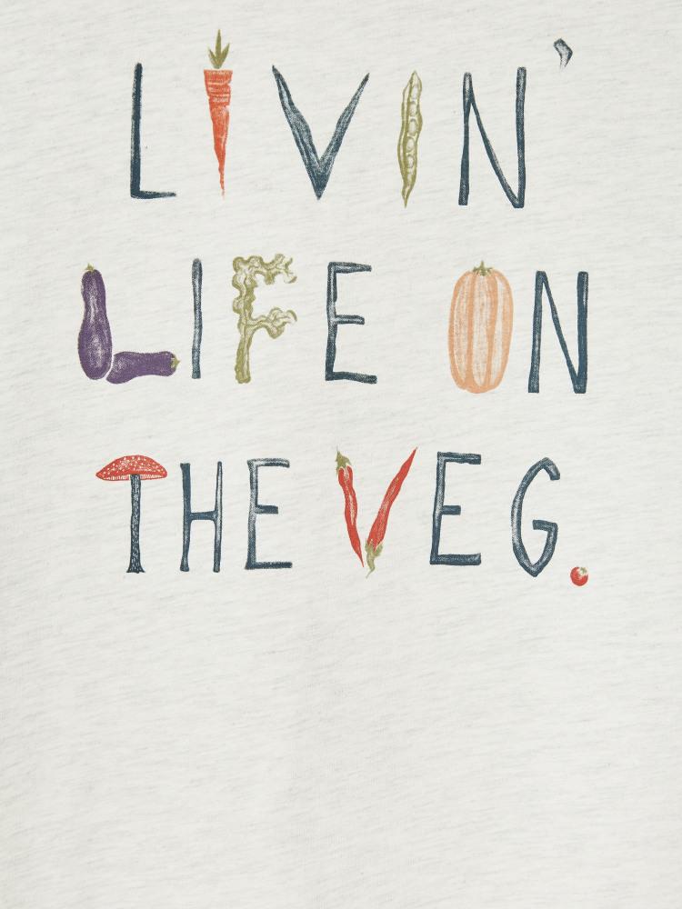 Livin Life Graphic Organic Tee