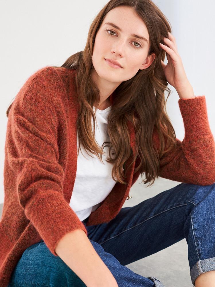 Lucinda Fluffy V neck Cardi