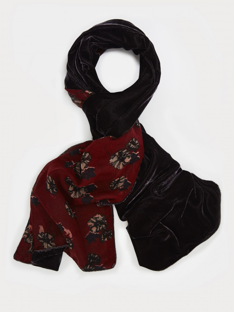 Whimsical Wool Velvet Scarf