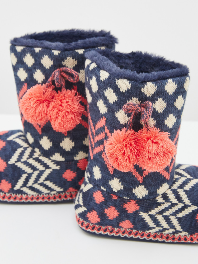 Patchwork Slipper Bootie