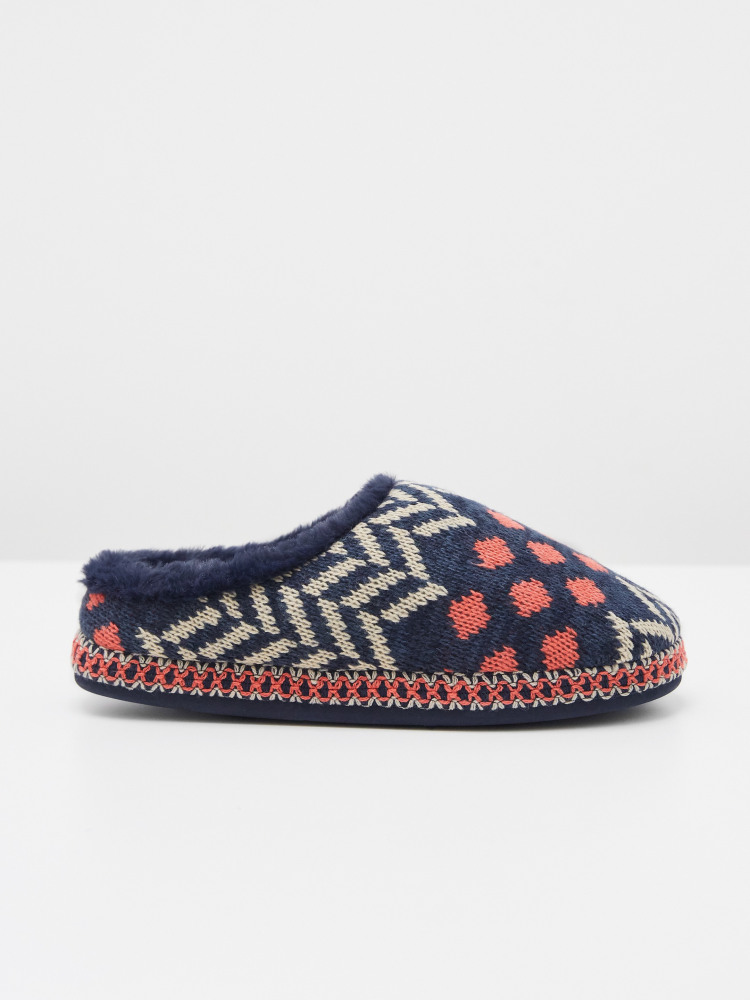 Patchwork Mule Slipper