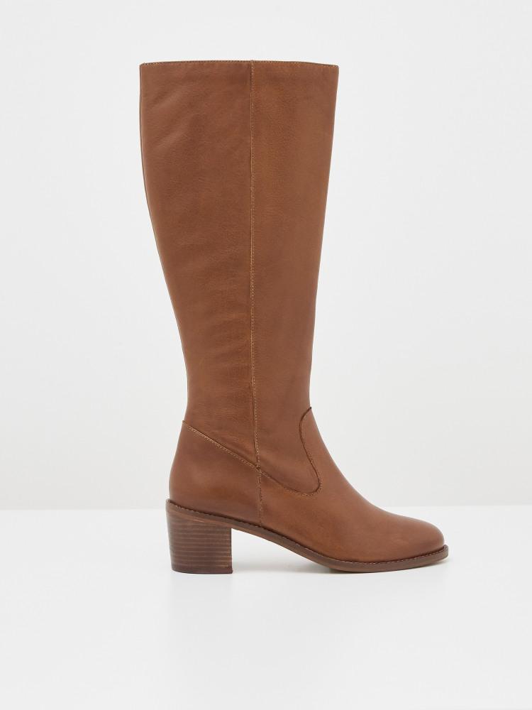 Jean Block Heel Long Boot