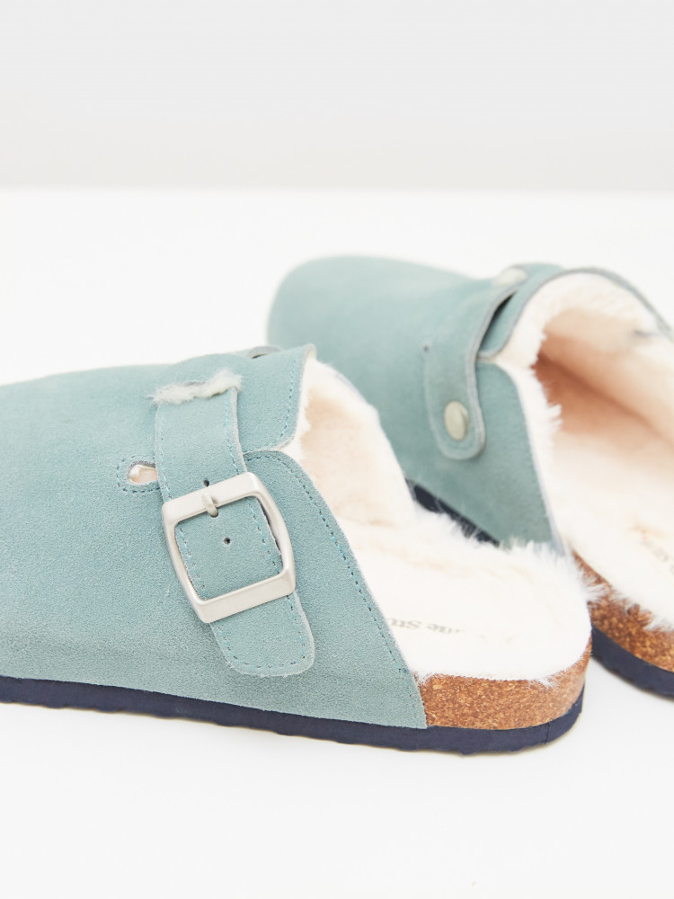 Poppy Suede Footbed Slipper