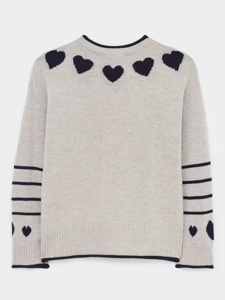Heart Neck Jumper