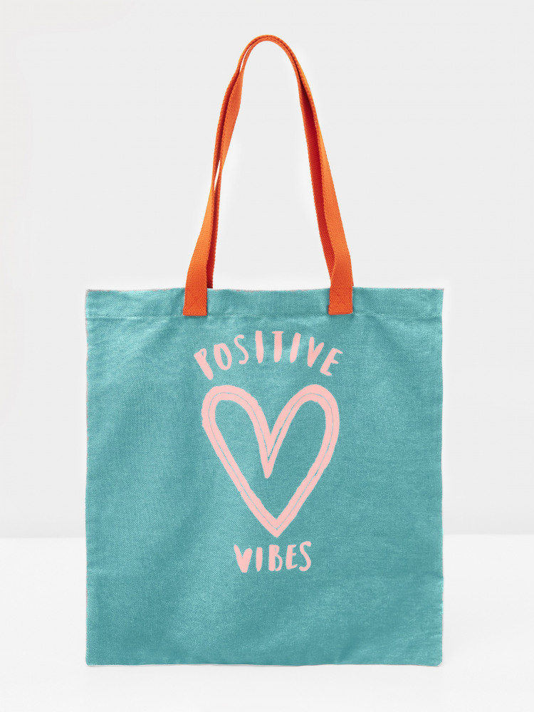 Positivity Cotton Tote Bag