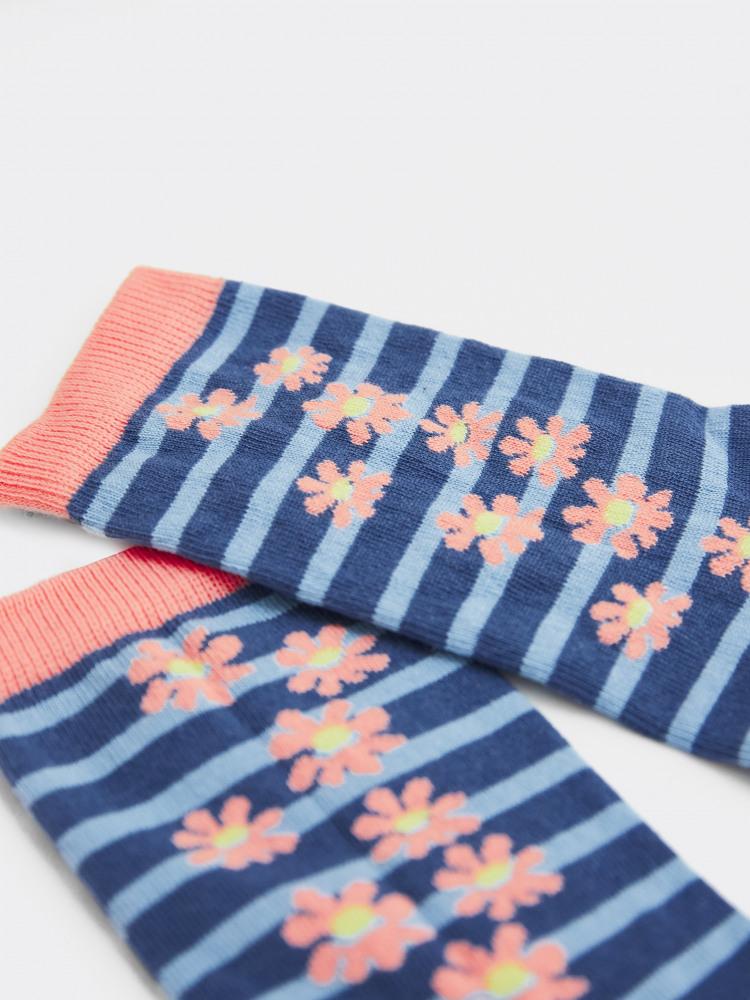 Daisy Flower Sock