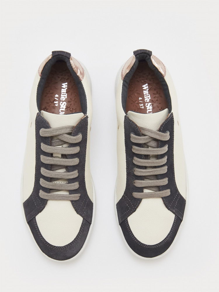 Leather and Suede Trainer