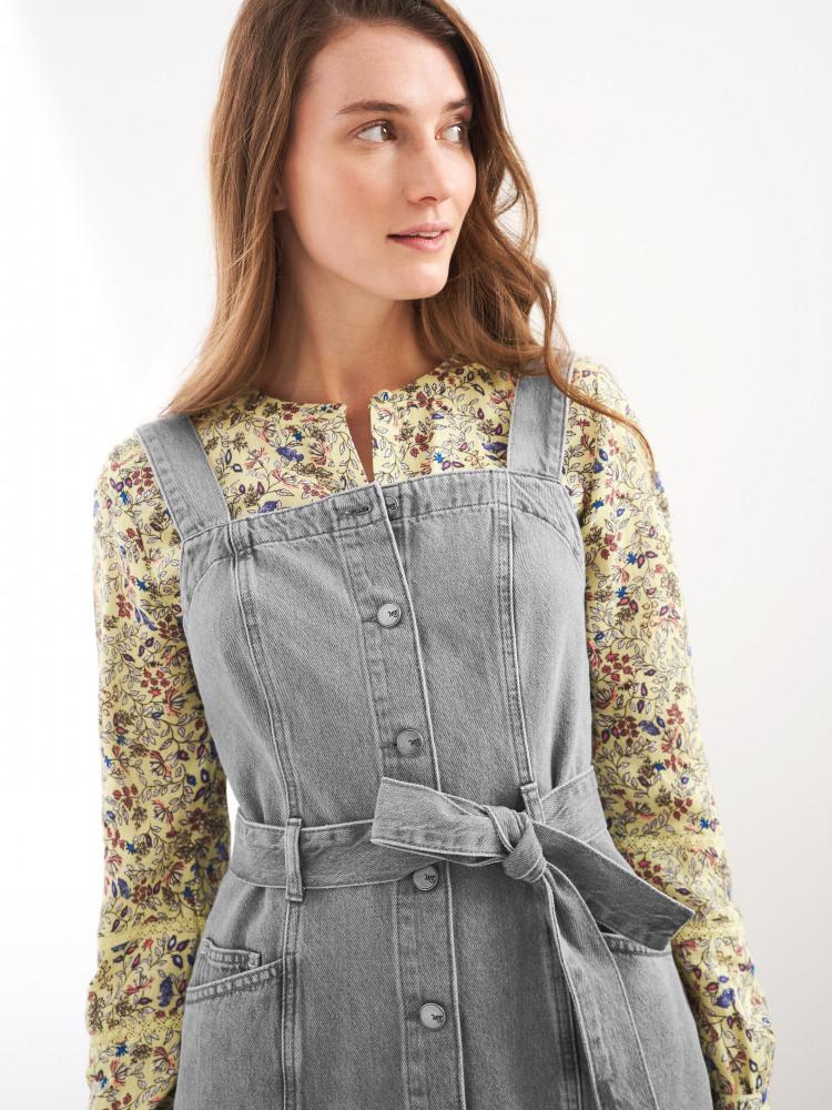 Farrow Denim Pinafore Dress