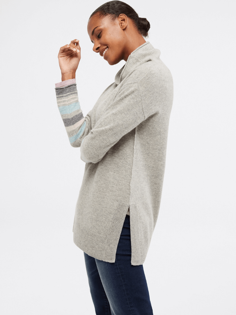 Cashmere Wool – Light Grey Plan Cashmere Emery Jumper – White Stuff