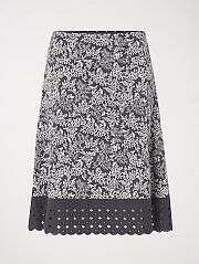 Flowerhead Jersey Skirt